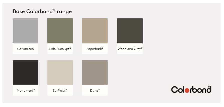 Base colour range for steel tanks