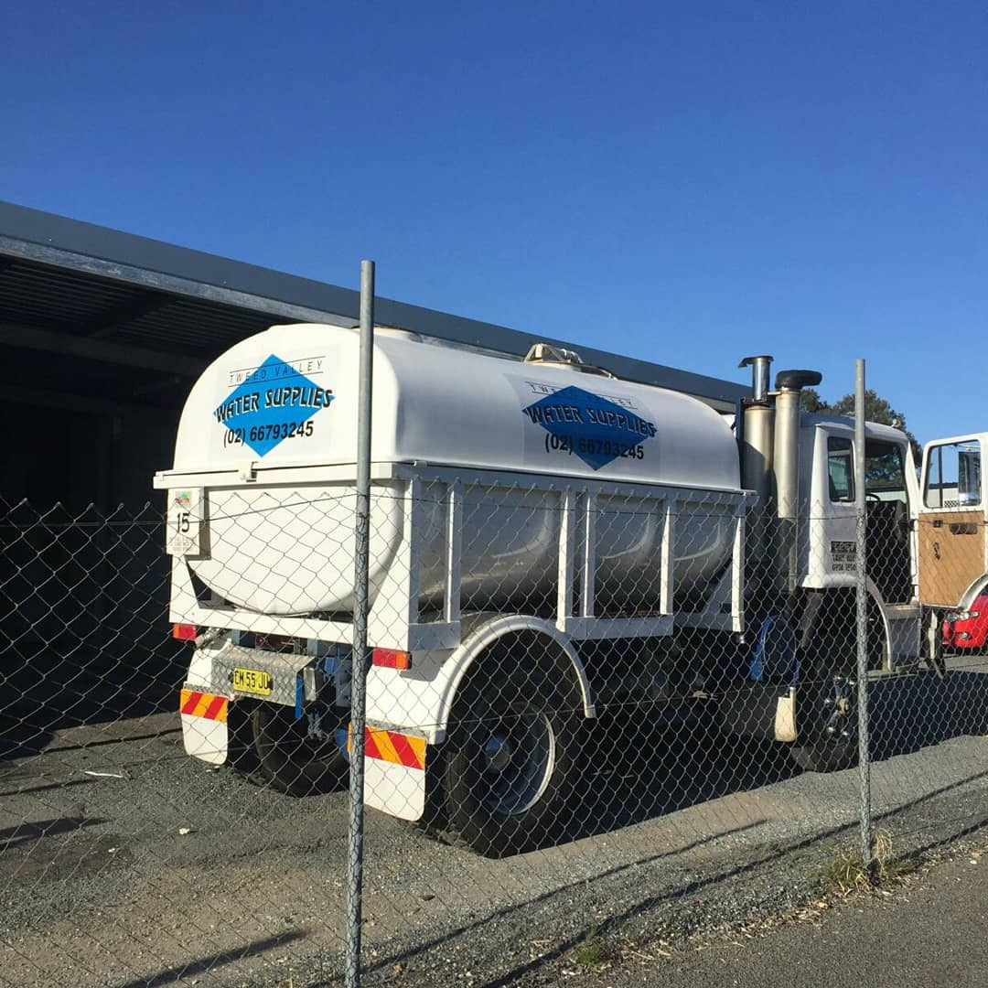 Water delivery truck gets new signage