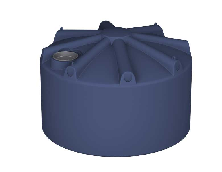 2250Ltr Round Poly Rainwater Tank