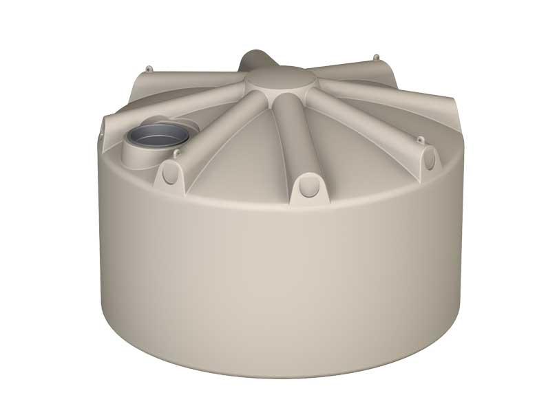 6000Ltr Squat Round Poly Tank