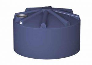 round blue poly rainwater tank
