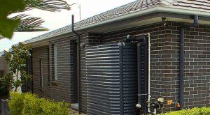 slimline aquaplate steel rainwater tank